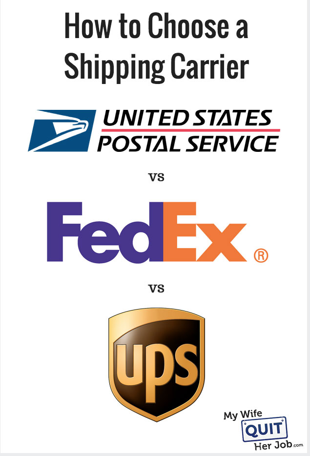 how to choose a shipping carrier usps ups fedex