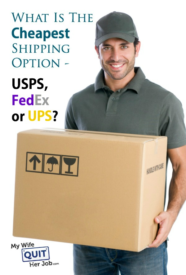 what is the cheapest shipping option usps fedex or ups
