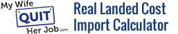 Real Landed Cost Of Goods Import Calculator