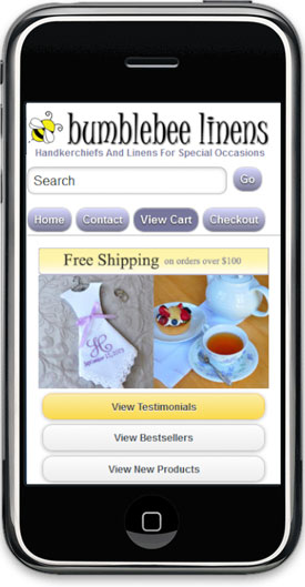 Mobile optimized site