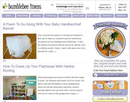 bumblebeelinens Blog