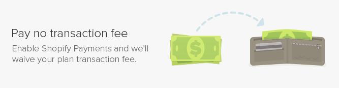 No shopify transaction fees