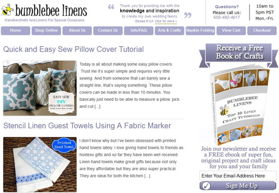 Bumblebee Linens Blog