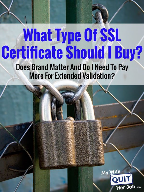 Buying A Cheap SSL Certificate Vs A Name Brand Like Verisign Or GeoTrust And Is EV Necessary?
