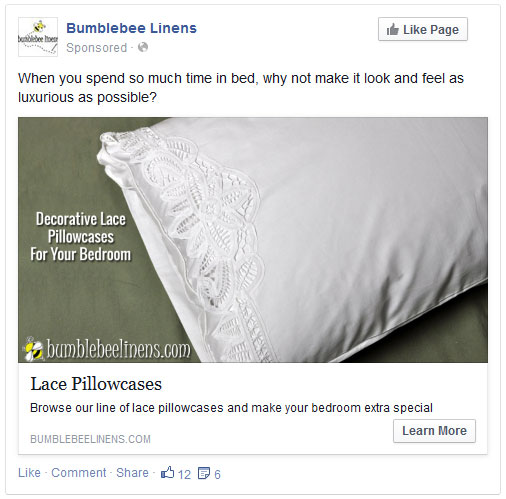 Pillowcase ad