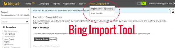 Bing Adwords Import Tool