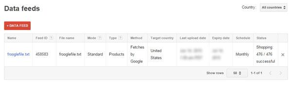 Google Product Feed