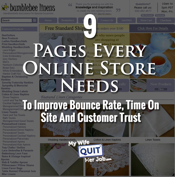 The Best Online Shopping Websites Use These 9 Pages To Improve Bounce Rate And Time On Site