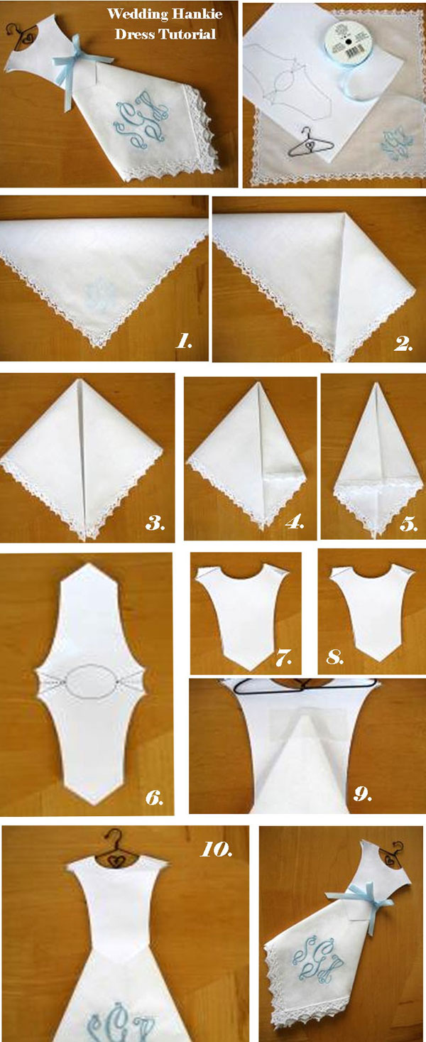 Wedding Dress Hankie Long