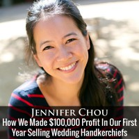 How We Made $100,000 Profit In Our First Year Selling Wedding Handkerchiefs