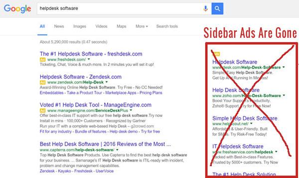 Google sidebar ads