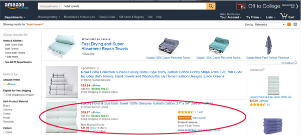 Amazon front page