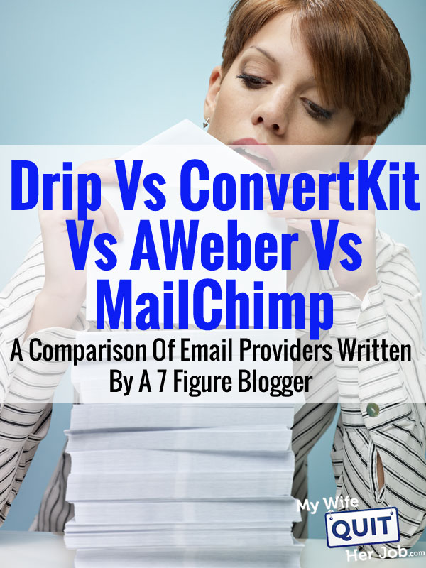Drip Vs ConvertKit Vs AWeber Vs MailChimp - A Comparison Of Email Providers From A 7 Figure Blogger
