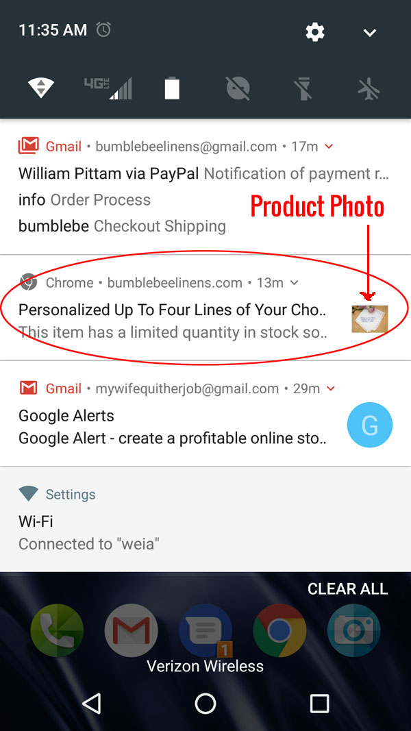 Push Notifications Example Phone