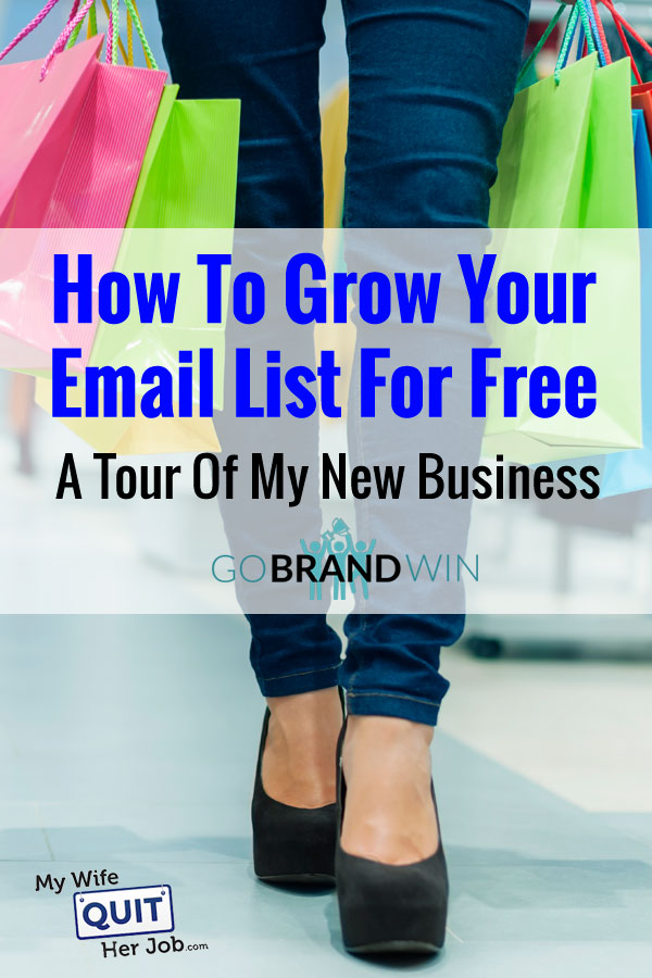 How To Grow Your Email List For Free - A Tour Of My New Business