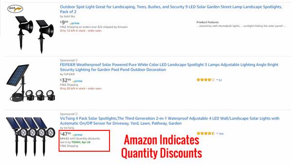 Amazon quantity discount