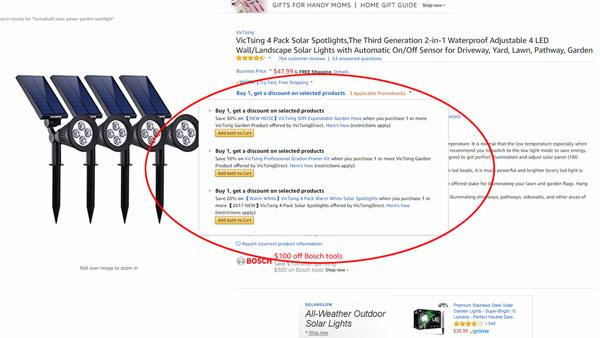 Amazon listing quantity discount
