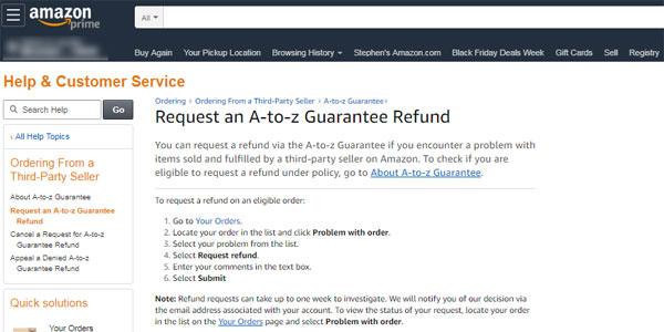 Amazon claim