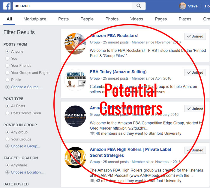 Amazon Facebook Groups
