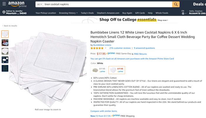 Amazon listing BBL