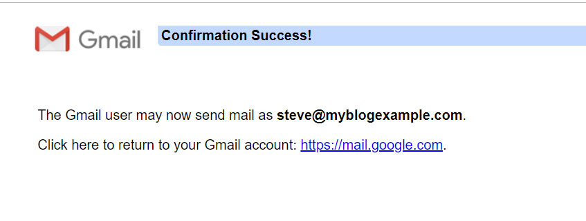 Gmail Success