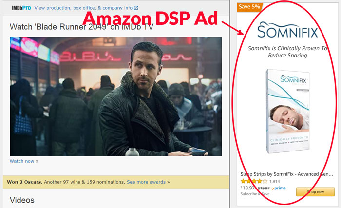 Amazon DSP Ad On IMDB