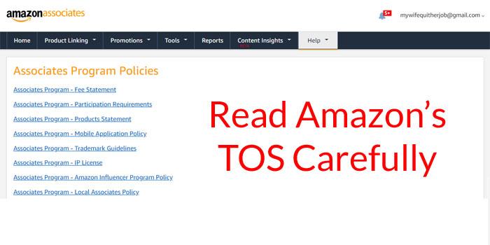 Amazon Associates TOS