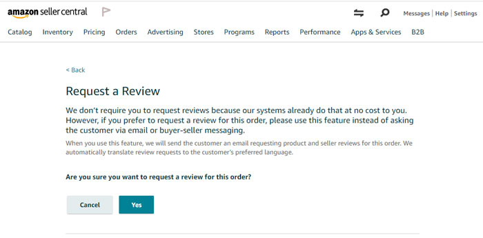 Amazon Review Request Dialog