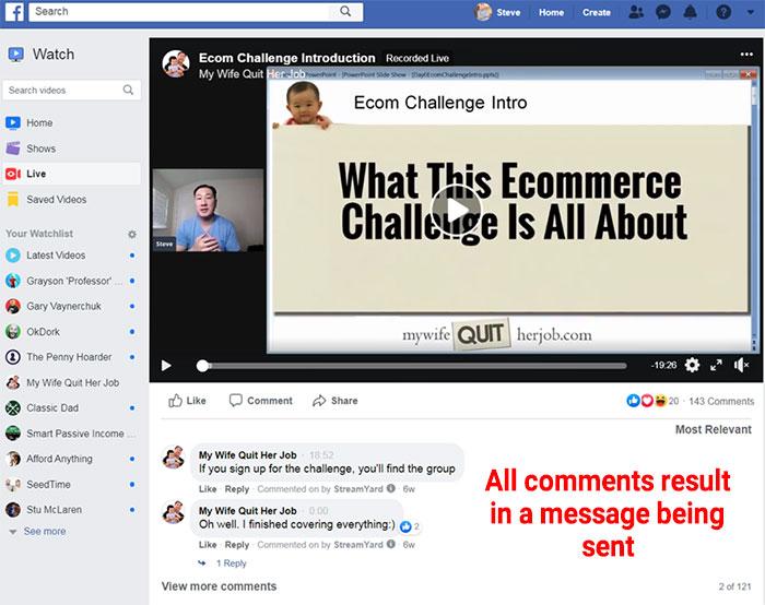 Messenger comments optin