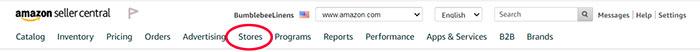 Amazon Stores Tab