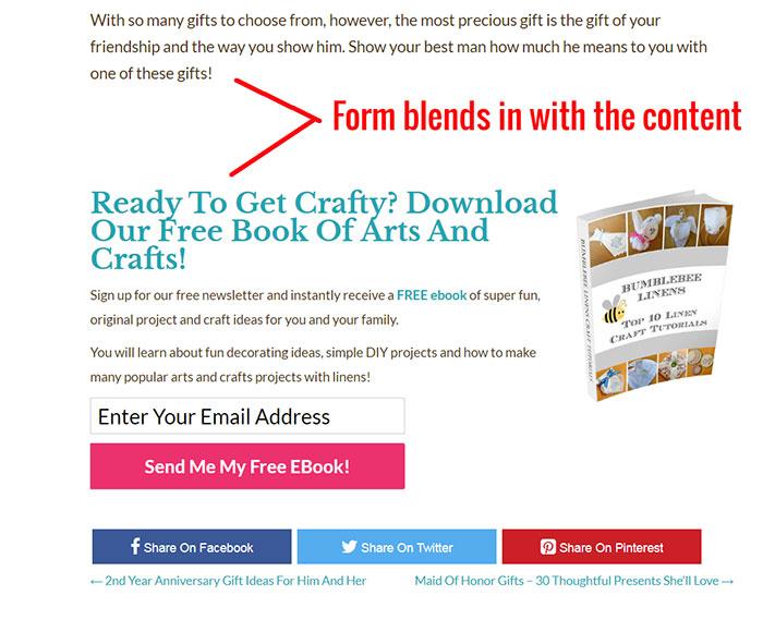 Blended Email Form