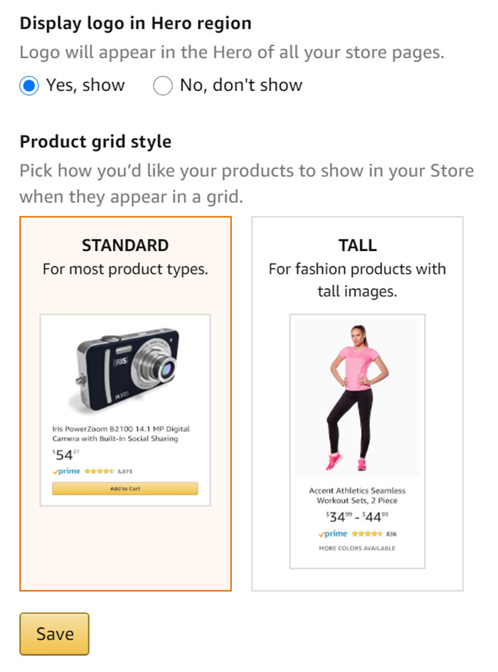 Product Grid Style