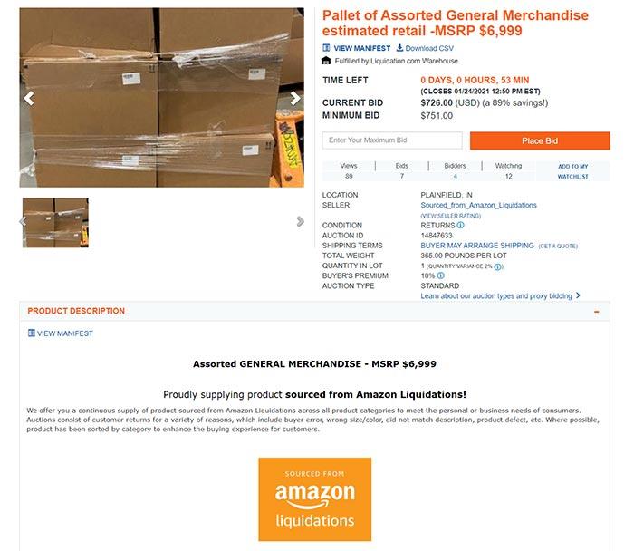 Amazon Return Pallet Auction