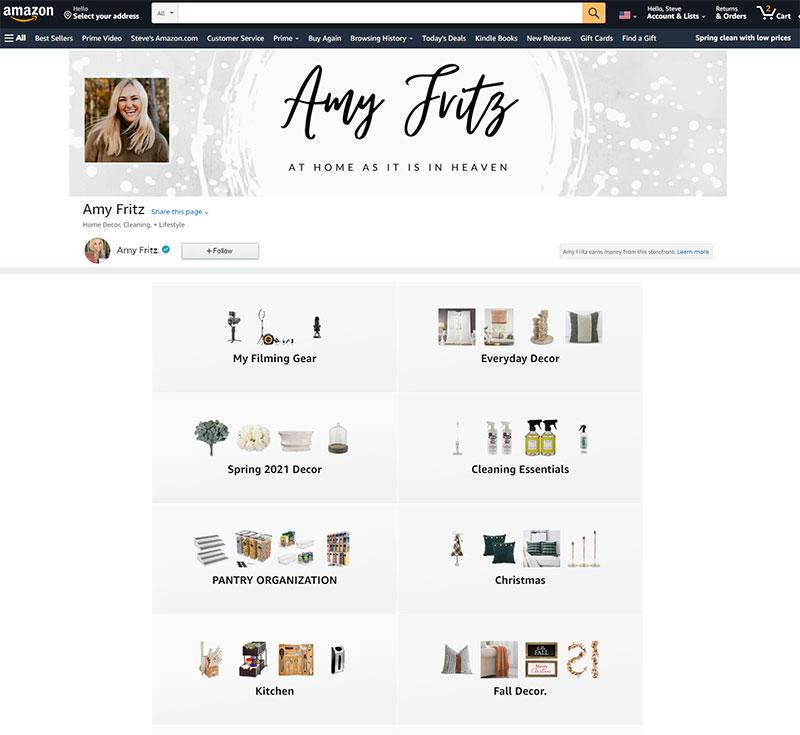 Amazon Storefront Example