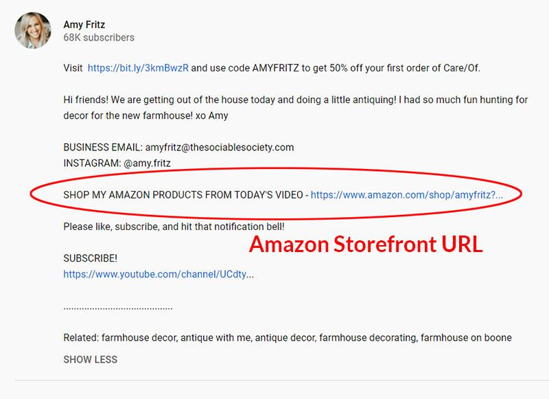 Amazon Vanity URL