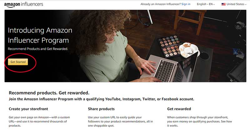 Amazon Influencers Program Apply