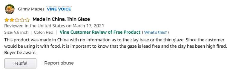 Negative Amazon Vine Review