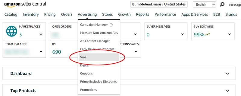 Amazon Vine Signup