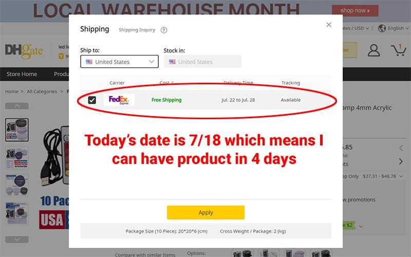 DHGate Shipping