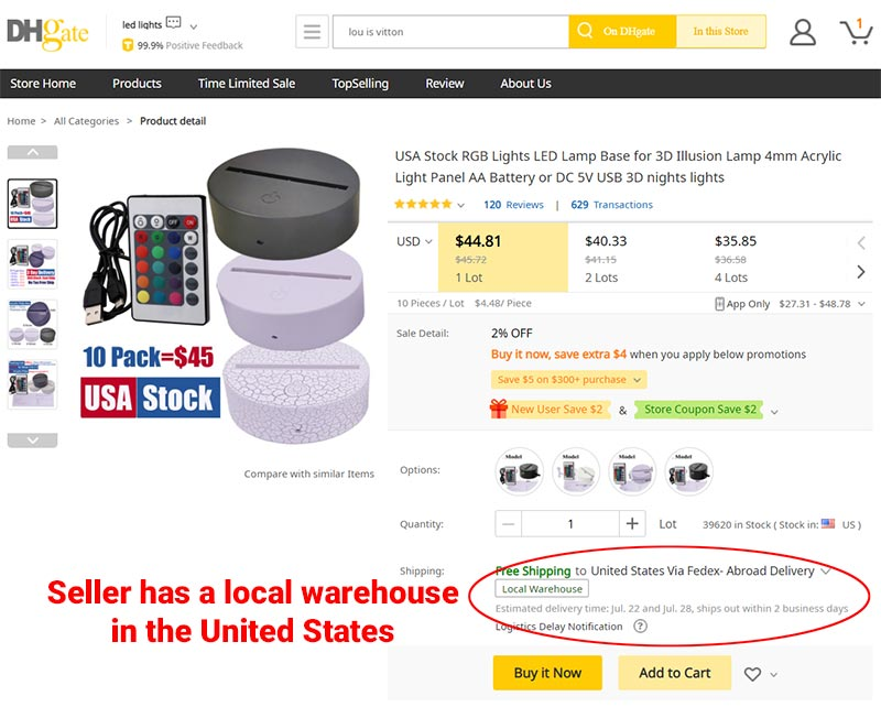 DHGate Local Warehouse