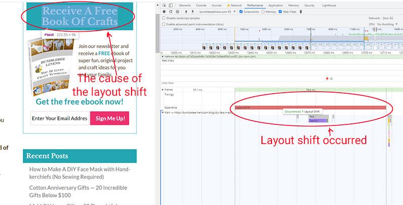 Layout Shift Debug