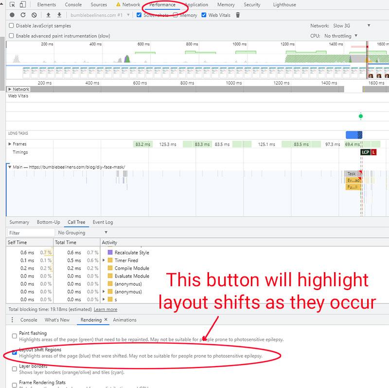 Layout Shift Regions