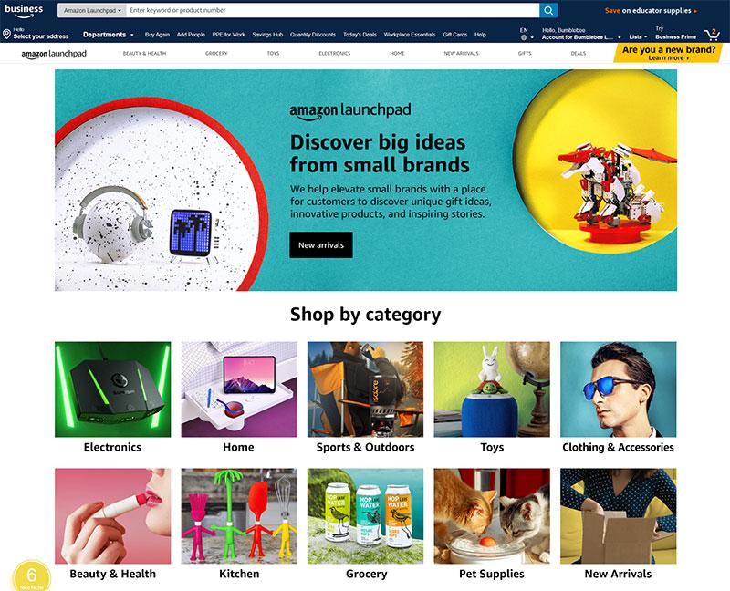 Amazon Launchpad Storefront
